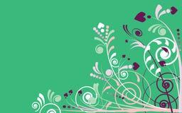 Ilustración del fondo de plantas en verde Fotos de archivo libres de regalías