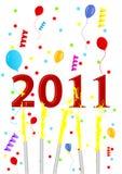 Ilustración del fondo del Año Nuevo ilustración del vector