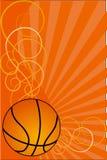 Ilustración del fondo-vector del baloncesto Foto de archivo libre de regalías