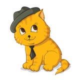Ilustración del gato Imagen de archivo