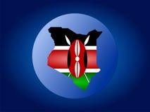 Ilustración del globo de Kenia Fotografía de archivo