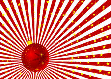 Ilustración del globo de la Navidad de Grunge Foto de archivo libre de regalías