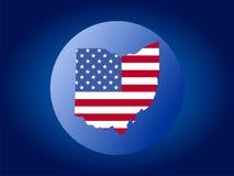 Ilustración del globo de Ohio Fotos de archivo