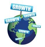 Ilustración del globo del crecimiento Imagen de archivo libre de regalías