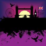 Ilustración del grunge de la ciudad de Londres Imagenes de archivo