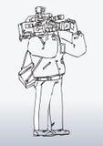 Ilustración del hombre de la cámara Imagenes de archivo