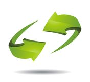 Ilustración del icono de la flecha 3d Imagen de archivo libre de regalías