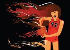 Ilustración del jugador de básquet Imágenes de archivo libres de regalías