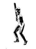 Ilustración del jugador de beísbol con pelota blanda Fotografía de archivo