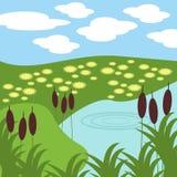 Ilustración del lago Imágenes de archivo libres de regalías