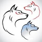 ilustración del lobo Imagenes de archivo