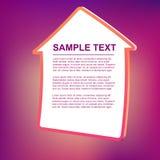 Ilustración del marco de texto del vector - casa Fotografía de archivo