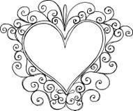 Ilustración del marco del corazón Fotografía de archivo