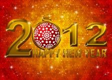 Ilustración del ornamento de 2012 copos de nieve del Año Nuevo Fotos de archivo