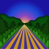 Ilustración del paisaje Imagen de archivo libre de regalías