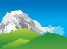 Ilustración del paisaje de la montaña Foto de archivo libre de regalías