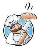 Ilustración del panadero ilustración del vector