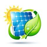 Ilustración del panel solar Imagenes de archivo