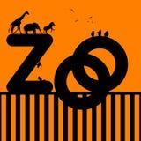 Ilustración del parque zoológico con los animales Fotografía de archivo libre de regalías