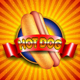Ilustración del perrito caliente stock de ilustración