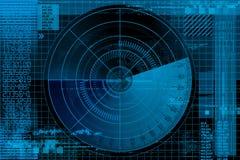 Ilustración del radar ilustración del vector