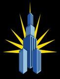 ilustración del rascacielos de la vendimia Ilustración del Vector