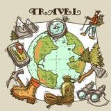 Ilustración del recorrido Fotografía de archivo libre de regalías