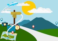 Ilustración del recorrido Imagen de archivo libre de regalías