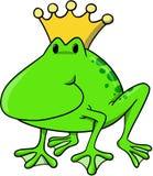 Ilustración del rey vector de la rana Imagen de archivo