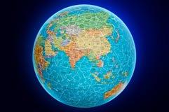Ilustración del rompecabezas del globo de la tierra de Asia Foto de archivo libre de regalías