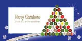 Ilustración del saludo de la Navidad Imagenes de archivo