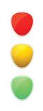 Ilustración del semáforo foto de archivo