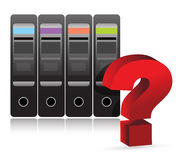 Ilustración del signo de interrogación del servidor Imágenes de archivo libres de regalías