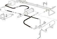 Ilustración del sistema hydráulico libre illustration