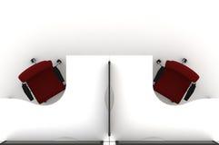 Ilustración del sitio de trabajo table-3d Foto de archivo libre de regalías