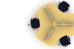 Ilustración del sitio de trabajo table-3d Imagen de archivo libre de regalías