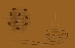 Ilustración del tema del café - formato de los cdr ilustración del vector