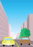 Ilustración del tráfico de ciudad Imágenes de archivo libres de regalías
