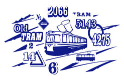 Ilustración del tranvía. JPG y EPS Imagenes de archivo
