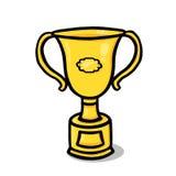 Ilustración del trofeo del oro Imagen de archivo libre de regalías