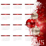 Ilustración del vector Calendario del Año Nuevo 2015 Imágenes de archivo libres de regalías