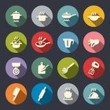 Ilustración del vector Cocinar el sistema del icono libre illustration