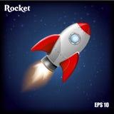Ilustración del vector Cohete del vuelo Imagen de archivo