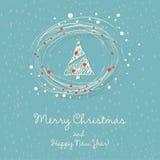Ilustración del vector con el árbol de navidad Imagenes de archivo