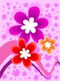 Ilustración del vector con la flora Imagen de archivo libre de regalías