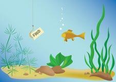 ilustración del vector con los pescados y el mar Imagenes de archivo
