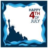 Ilustración del vector Día de la Independencia americano del fondo del 4 de julio Feliz el 4 de julio Diseños para los carteles,  ilustración del vector