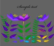Ilustración del vector de flores abstractas Fotografía de archivo libre de regalías