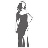 Ilustración del vector de la figura femenina Fotos de archivo