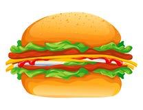 Ilustración del vector de la hamburguesa Fotos de archivo